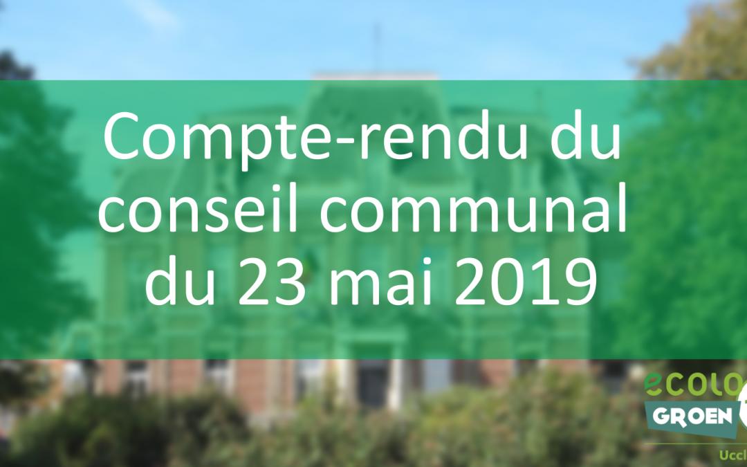 Compte-rendu du conseil communal du 23/05/2019