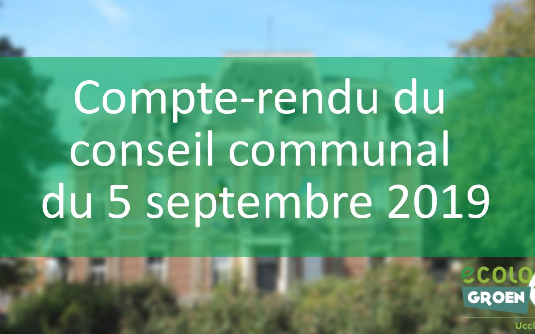 Conseil communal du 05/09/19 et agenda de septembre