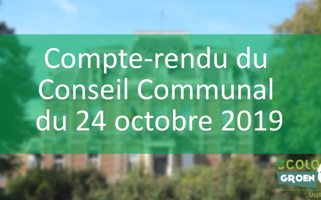 Conseil Communal du 24/10/19 – Clos Monique Rifflet, place St-Job, urgence climatique et lutte contre les discriminations