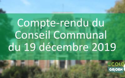 Conseil communal du 19/12/19 : Subsides en fin d'année