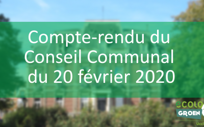 Conseil Communal du 20/02/20