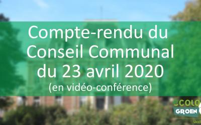 Conseil Communal du 23/04/20 : Extension zone 30 et budget participatif