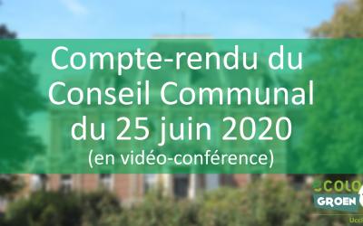 Conseil Communal du 25/06/20 : Poésie, vélothèque et décolonisation