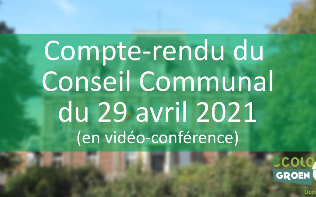 Conseil Communal du 29/04/2021 : zones de rencontre, potager Cauter, télévigilance et LGBTQIA+