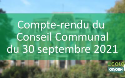 Conseil Communal du 30/09/21 : Assemblée citoyenne pour le climat et Pony-City